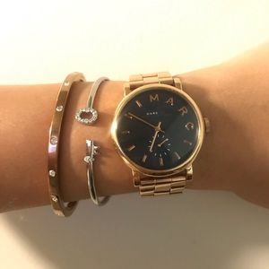 Rose Gold Blue Faced Marc Jacobs Watch